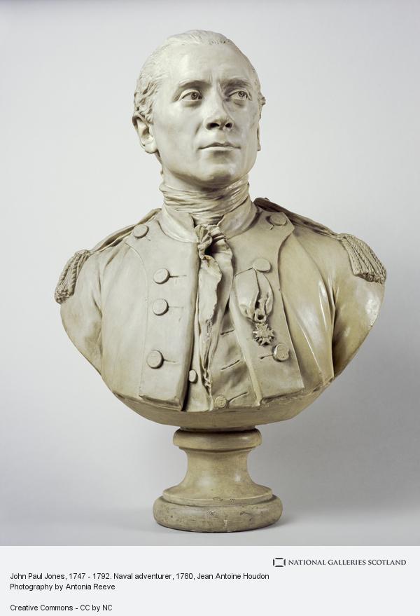 Jean Antoine Houdon, John Paul Jones, 1747 - 1792. Naval adventurer (Dated 1780)