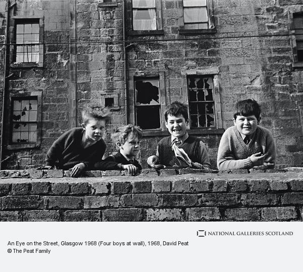 David Peat, An Eye on the Street, Glasgow 1968 (Four boys at wall)