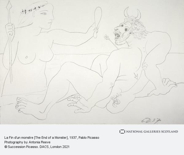 Pablo Picasso, La Fin d'un monstre [The Death of a Monster] (1937)