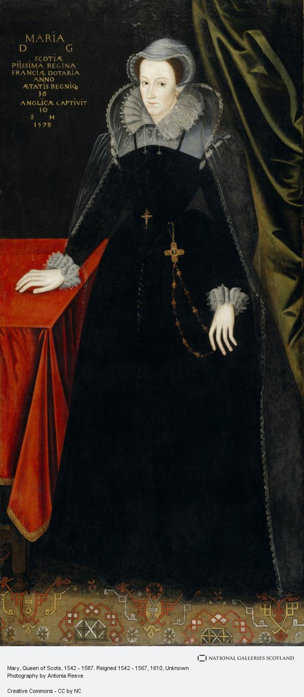 Unknown, Mary, Queen of Scots, 1542 - 1587. Reigned 1542 - 1567 (About 1610 - 1615)