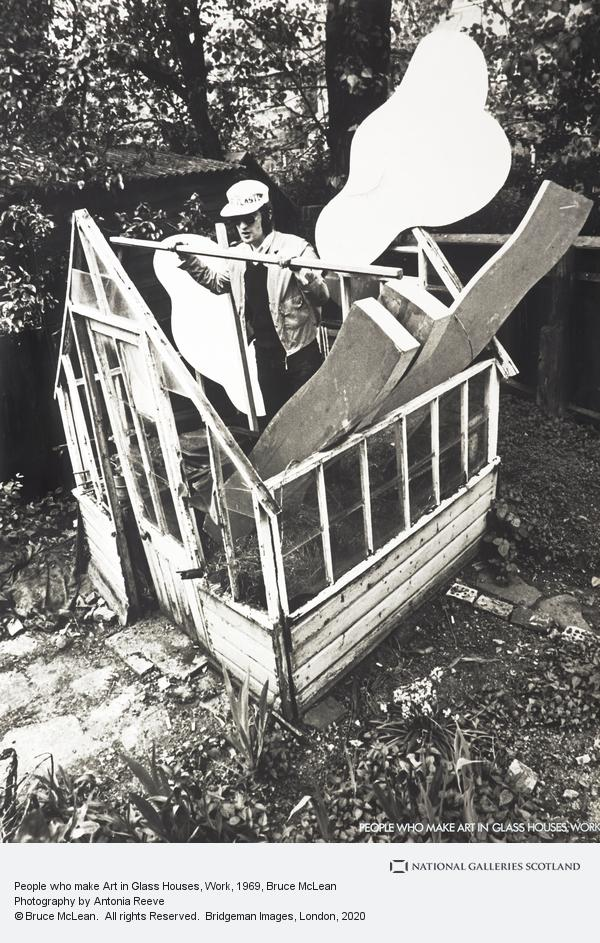 Bruce McLean, People who make Art in Glass Houses, Work