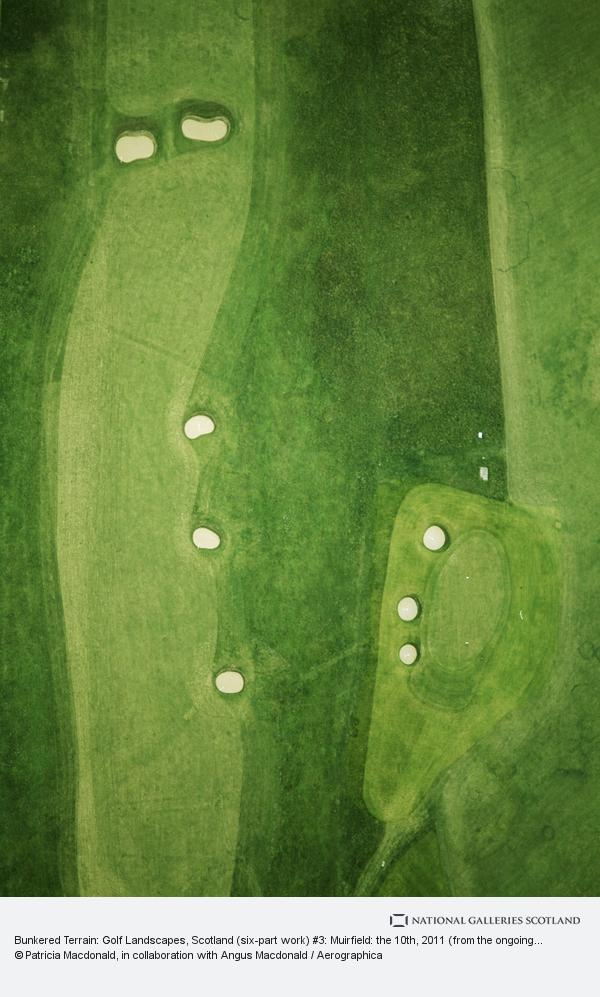Patricia Macdonald, Bunkered Terrain: Golf Landscapes, Scotland (six-part work) #3: Muirfield: the 10th, 2011 (from the ongoing series: The Play Grounds)