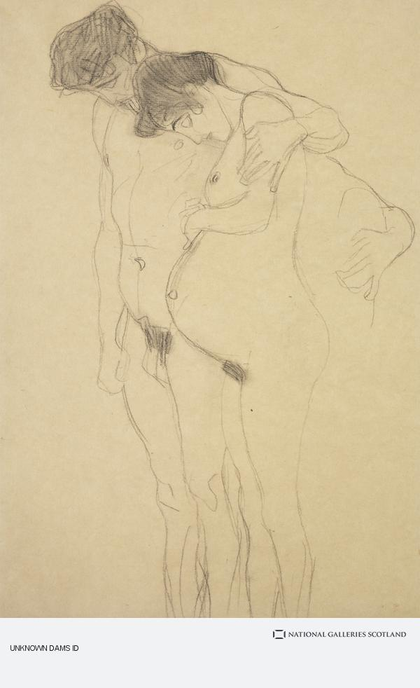 Gustav Klimt, Schwangere mit Mann nach links [Pregnant Woman with Man] (About 1903 - 1904)