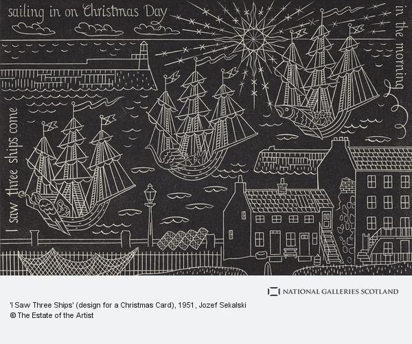 I Saw Three Ships Design For A Christmas Card National Galleries Of Scotland