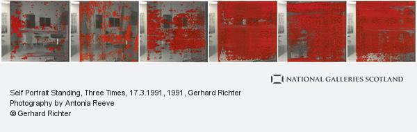 Gerhard Richter, Self Portrait Standing, Three Times, 17.3.1991 (1991)