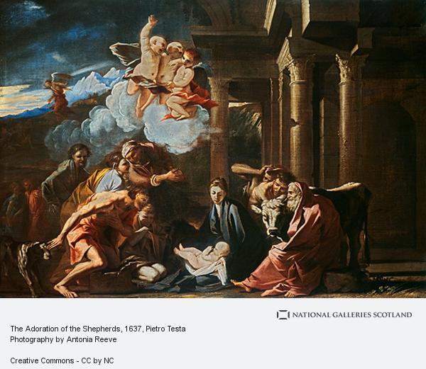 Pietro Testa, The Adoration of the Shepherds