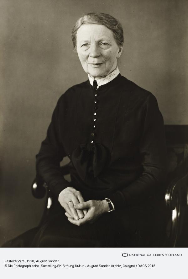 August Sander, Pastor's Wife, about 1920 (about 1920)