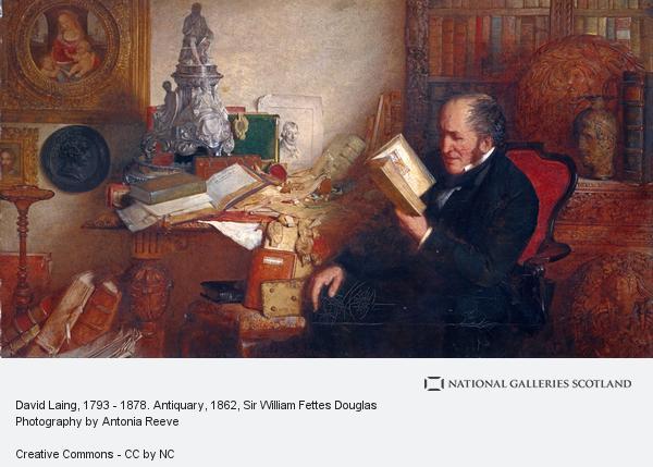 Sir William Fettes Douglas, David Laing, 1793 - 1878. Antiquary (1862)