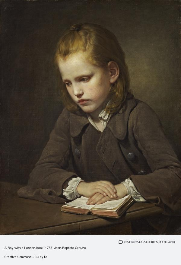 Jean-Baptiste Greuze, A Boy with a Lesson-book (exhibited 1757)