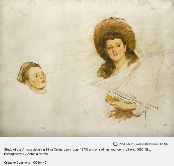 Sir William Quiller Orchardson, Study of the Artist's daughter Hilda Orchardson (born 1875) and one of her younger brothers