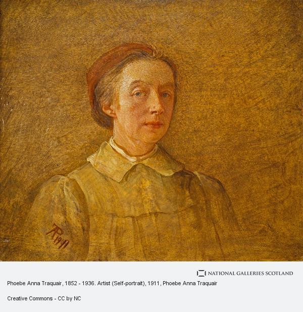 Phoebe Anna Traquair, Phoebe Anna Traquair, 1852 - 1936. Artist (Self-portrait)
