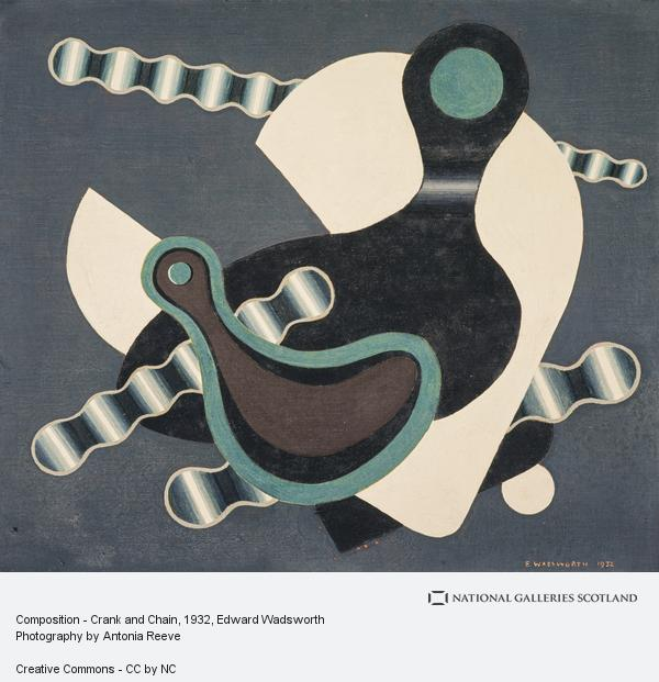 Edward Wadsworth, Composition - Crank and Chain