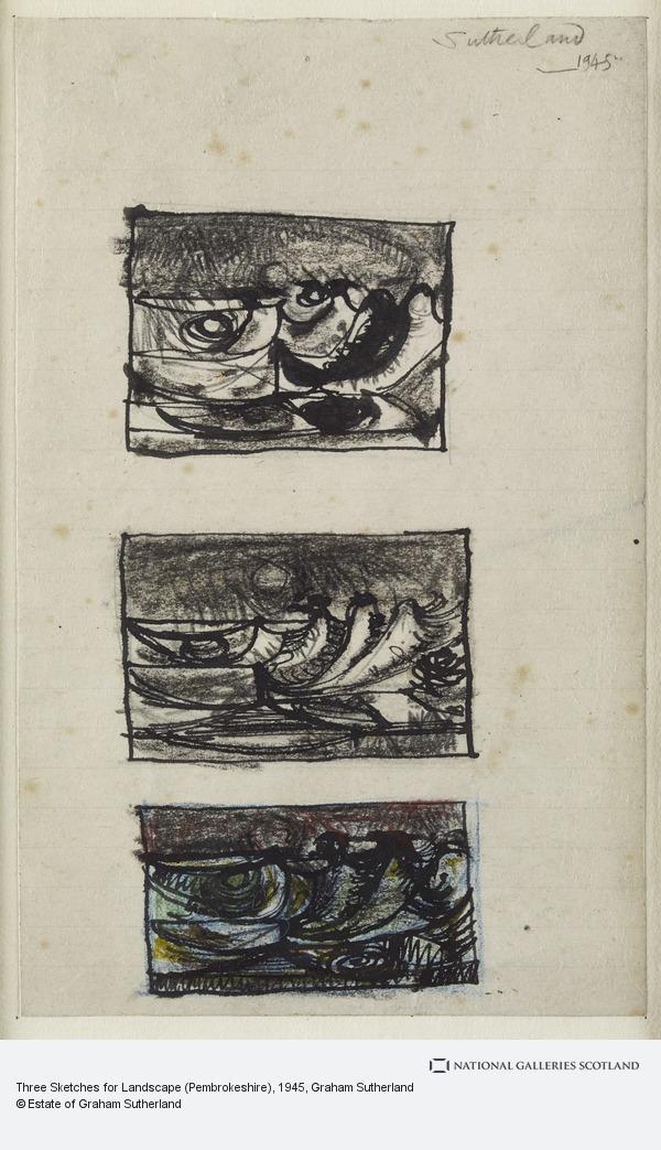 Graham Sutherland, Three Sketches for Landscape (Pembrokeshire)
