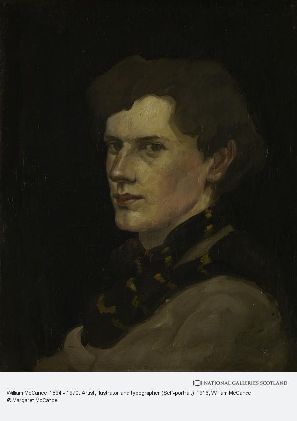 William McCance, William McCance, 1894 - 1970. Artist, illustrator and typographer (Self-portrait)