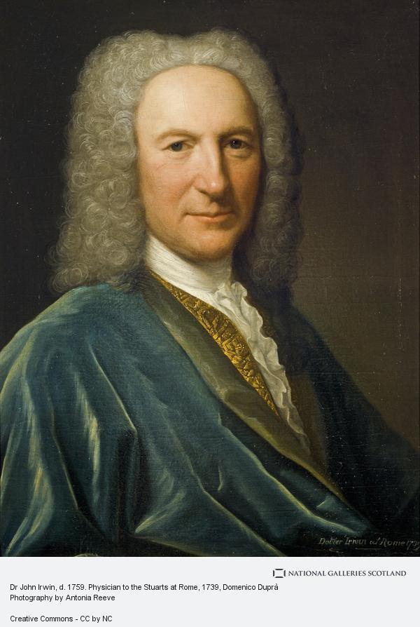 Domenico Duprà, Dr John Irwin, d. 1759. Physician to the Stuarts at Rome