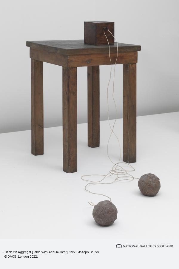 Joseph Beuys, Tisch mit Aggregat [Table with Accumulator] (1958-1985)