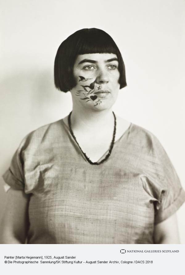 August Sander, Painter [Marta Hegemann], about 1925 (about 1925)
