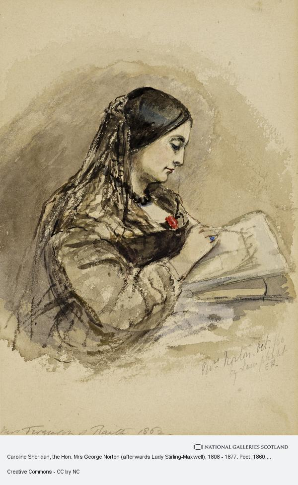 Mrs Emma Ferguson of Raith, Caroline Sheridan, the Hon. Mrs George Norton (afterwards Lady Stirling-Maxwell), 1808 - 1877. Poet