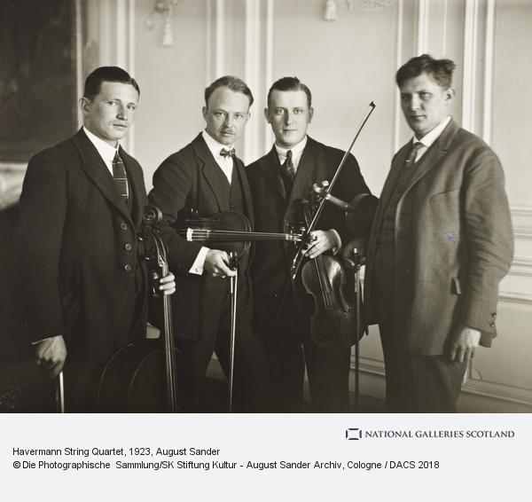 August Sander, Havermann String Quartet, 1923 (1923)