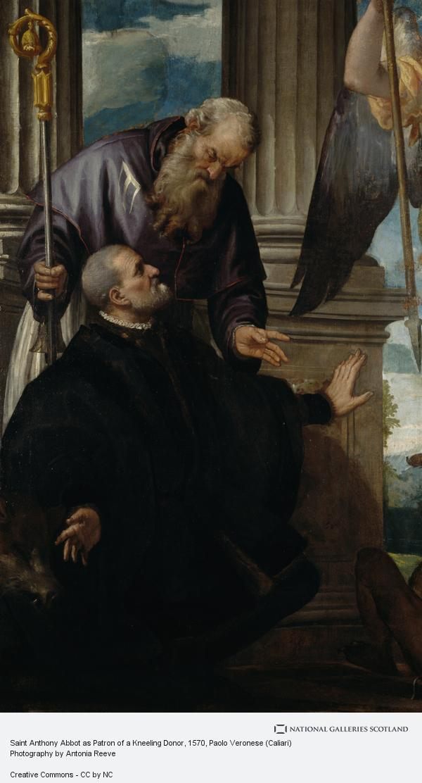 Paolo Veronese (Caliari), Saint Anthony Abbot as Patron of a Kneeling Donor (Probably after 1570)