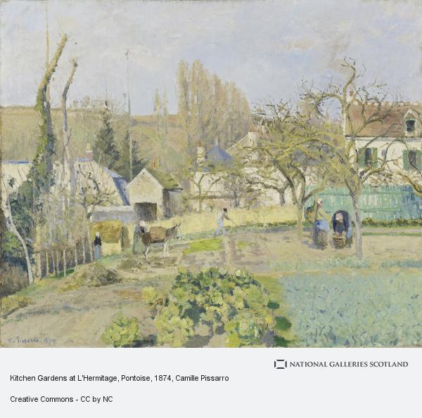 Camille Pissarro, Kitchen Gardens at L'Hermitage, Pontoise (1874)