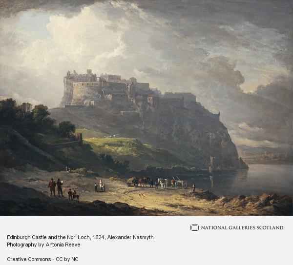 Alexander Nasmyth, Edinburgh Castle and the Nor' Loch (1824)