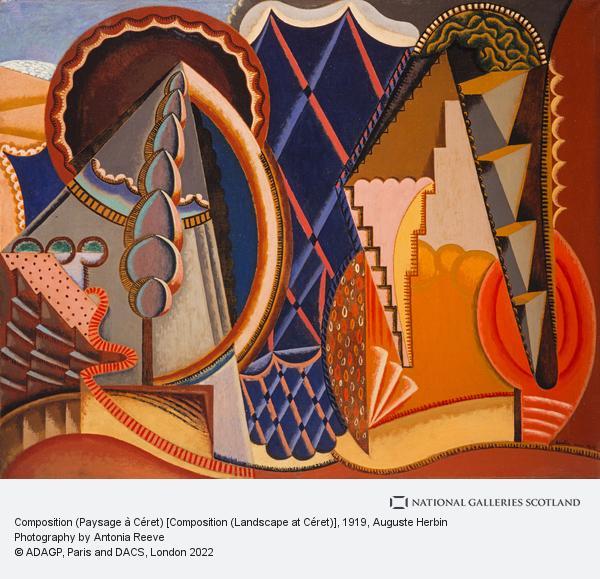 Auguste Herbin, Composition (Paysage à Céret) [Composition (Landscape at Céret)]
