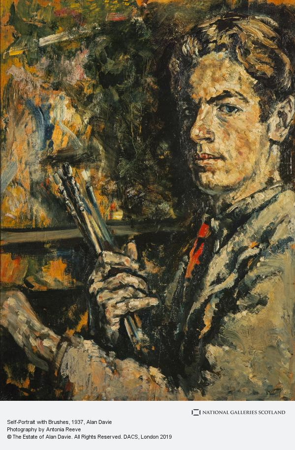Alan Davie, Self-Portrait with Brushes