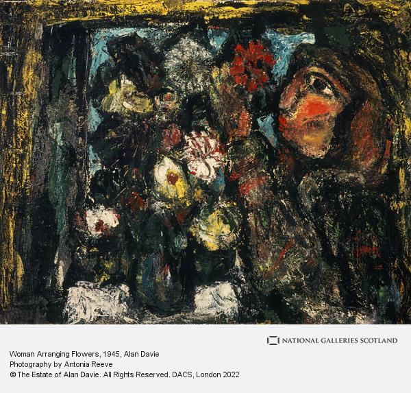 Alan Davie, Woman Arranging Flowers