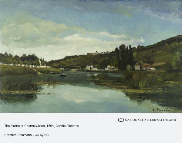 Camille Pissarro, The Marne at Chennevières (About 1864 - 1865)