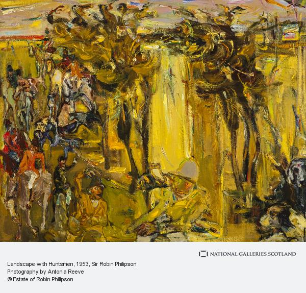 Sir Robin Philipson, Landscape with Huntsmen