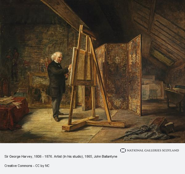 John Ballantyne, Sir George Harvey, 1806 - 1876. Artist (In his studio)