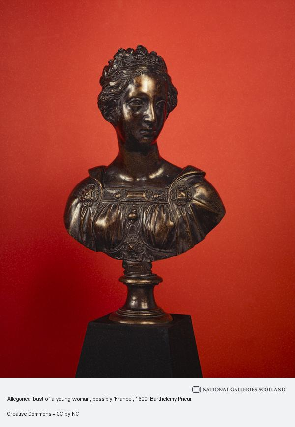 Barthélemy Prieur, Allegorical bust of a young woman, possibly 'France'