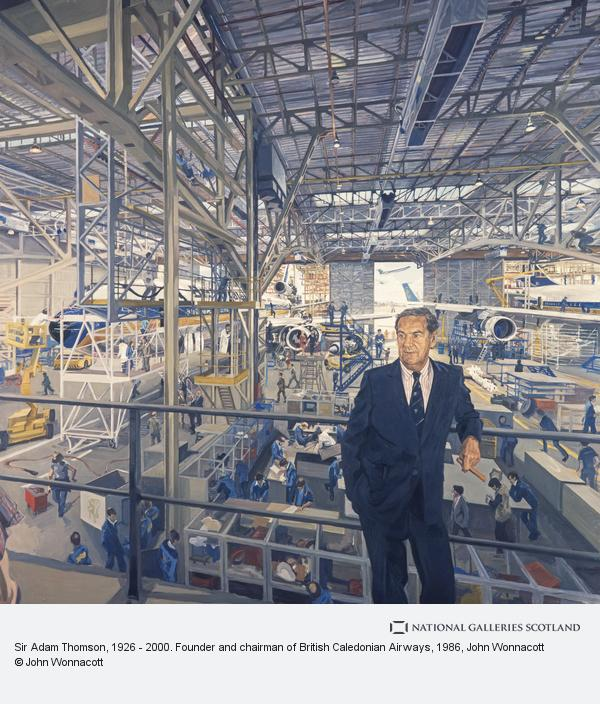 John Wonnacott, Sir Adam Thomson, 1926 - 2000. Founder and chairman of British Caledonian Airways