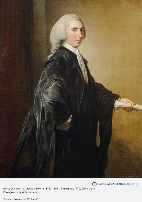 David Martin, Henry Dundas, 1st Viscount Melville, 1742 - 1811. Statesman (1770)