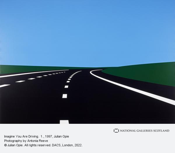 Julian Opie, Imagine You Are Driving.  1.