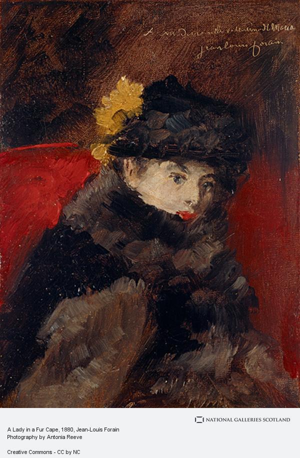 Jean-Louis Forain, A Lady in a Fur Cape