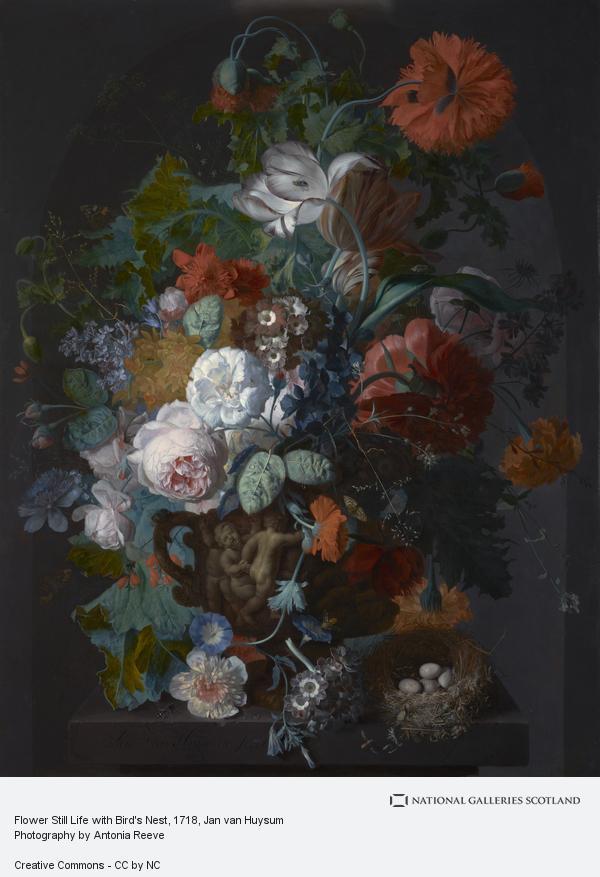Jan van Huysum, Flower Still Life with Bird's Nest (About 1718)