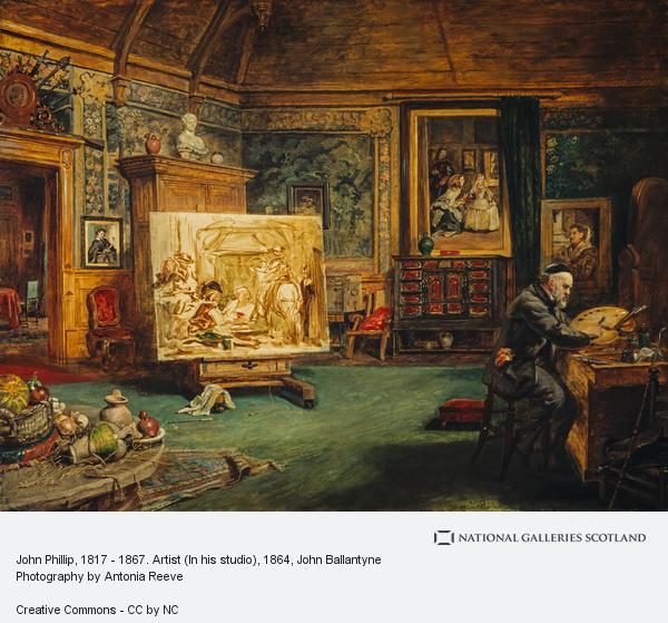 John Ballantyne, John Phillip, 1817 - 1867. Artist (In his studio)