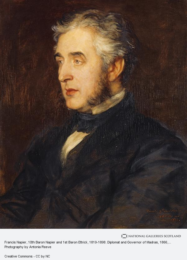 George Frederic Watts, Francis Napier, 10th Baron Napier and 1st Baron Ettrick, 1819 - 1898. Diplomat and Governor of Madras (1866)