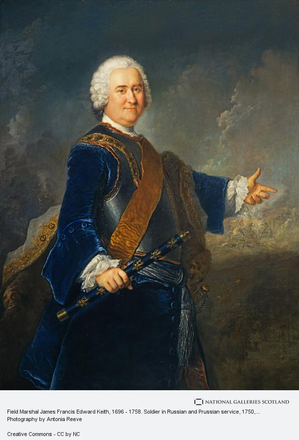 Antoine Pesne, Field Marshal James Francis Edward Keith, 1696 - 1758. Soldier in Russian and Prussian service