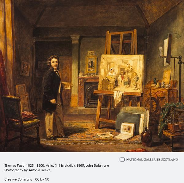 John Ballantyne, Thomas Faed, 1825 - 1900. Artist (in his studio)