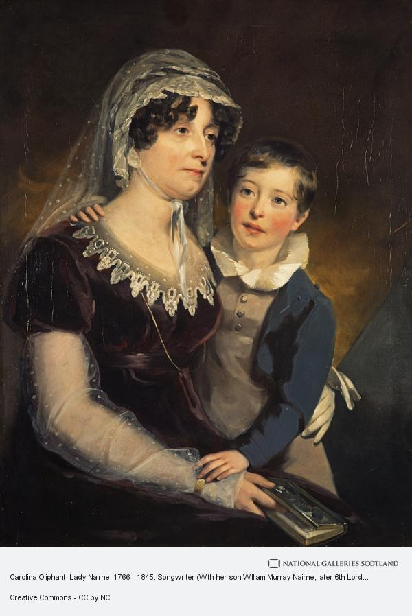 Sir John Watson Gordon, Carolina Oliphant, Lady Nairne, 1766 - 1845. Songwriter (With her son William Murray Nairne, later 6th Lord Nairne, 1808 - 1837)