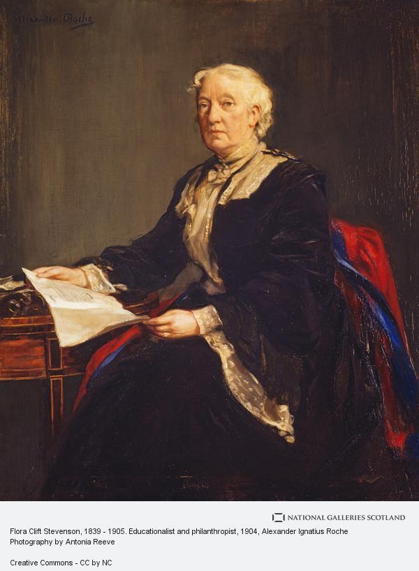 Alexander Ignatius Roche, Flora Clift Stevenson, 1839 - 1905. Educationalist and philanthropist