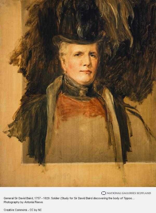 Sir David Wilkie, General Sir David Baird, 1757 - 1829. Soldier (Study for Sir David Baird discovering the body of Tippoo Sahib)