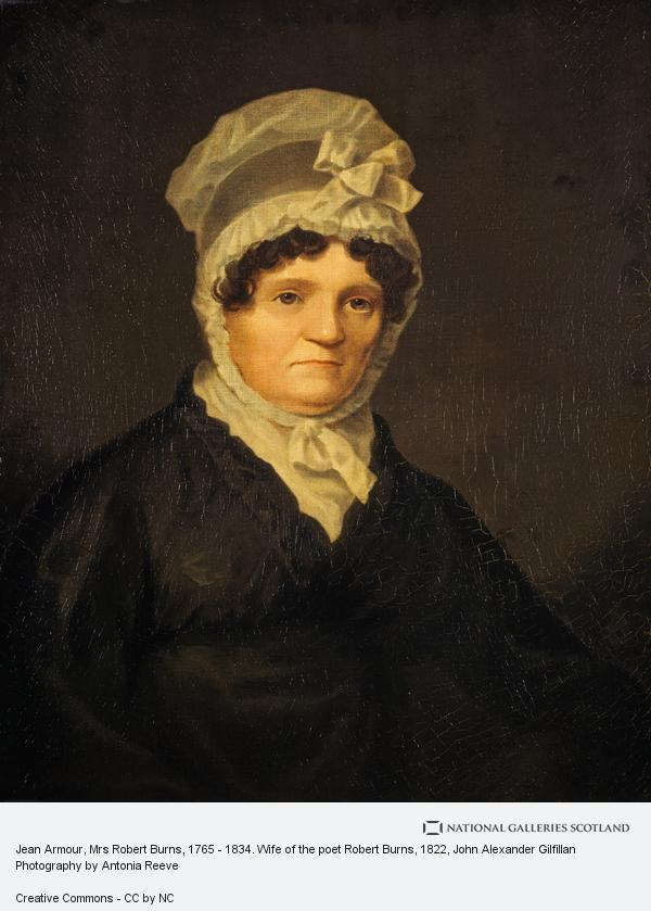 John Alexander Gilfillan, Jean Armour, Mrs Robert Burns, 1765 - 1834. Wife of the poet Robert Burns (1822)