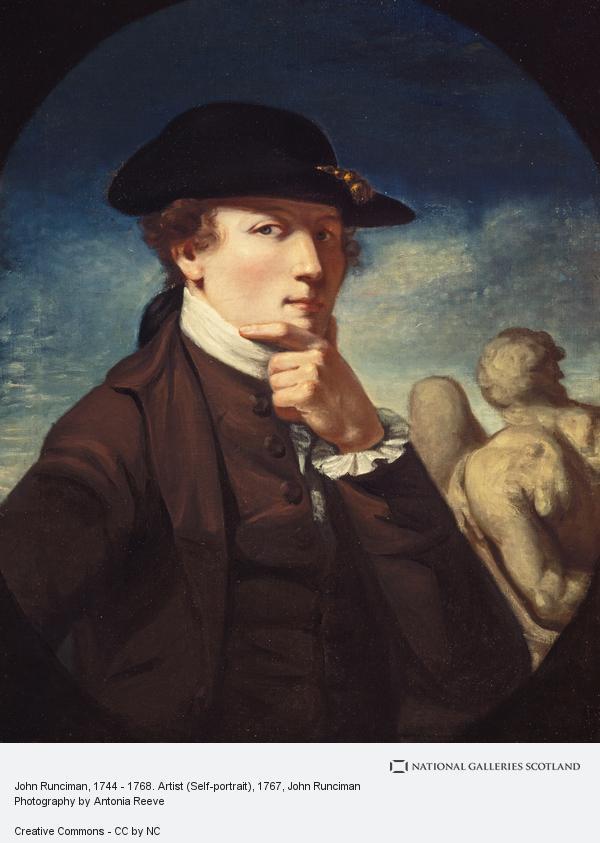John Runciman, John Runciman, 1744 - 1768. Artist (Self-portrait)