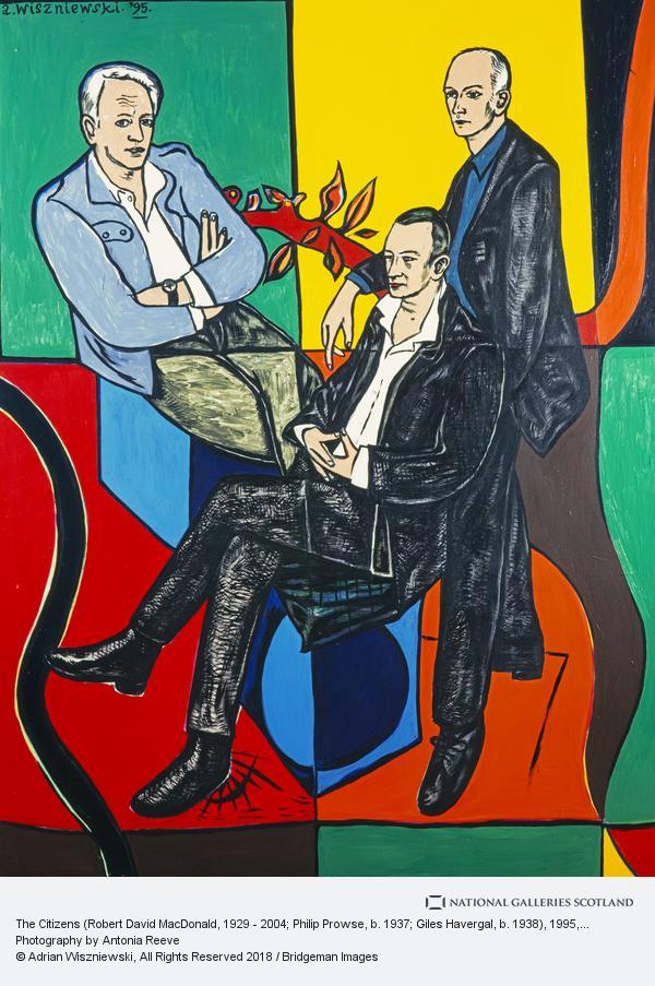 Adrian Wiszniewski, The Citizens (Robert David MacDonald, 1929 - 2004; Philip Prowse, b. 1937; Giles Havergal, b. 1938)