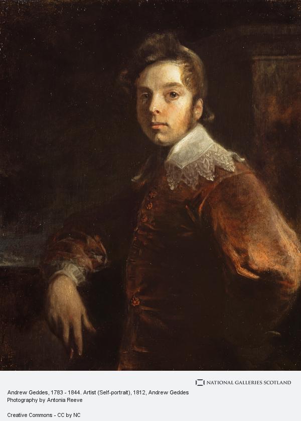 Andrew Geddes, Andrew Geddes, 1783 - 1844. Artist (Self-portrait) (Dated 1812)