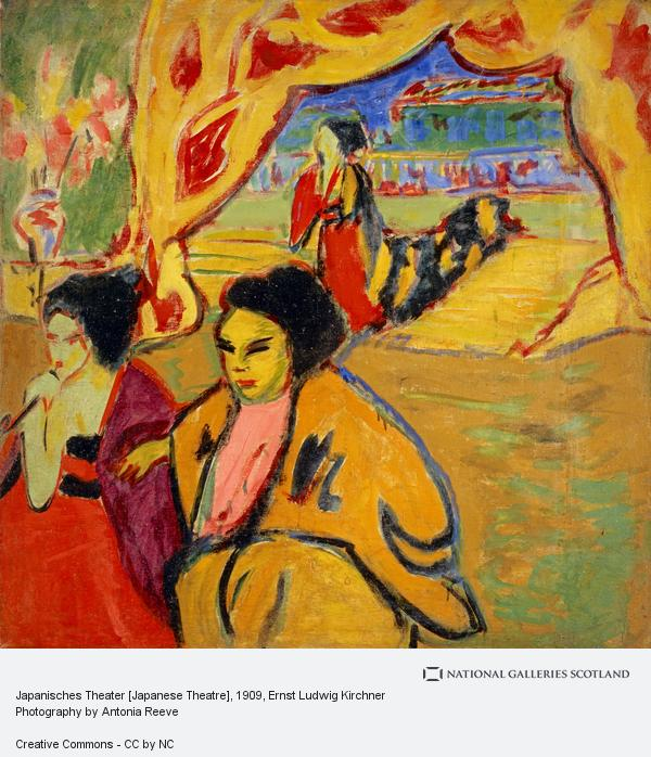 Ernst Ludwig Kirchner, Japanisches Theater [Japanese Theatre] (1909)